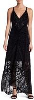 Hale Bob Beaded Velvet Silk-Blend Maxi Dress