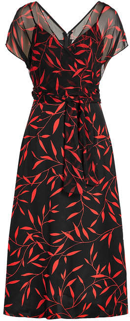 Diane von Furstenberg Printed Silk Chiffon Dress