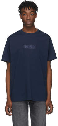 Levi's Levis Navy Relaxed Logo T-Shirt