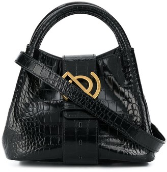 Zanellato Crocodile-Effect Small Tote Bag With Gold Hardware