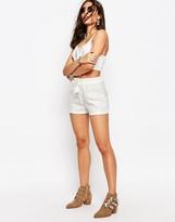 Missguided Sequin High Waist Shorts