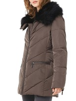 Phase Eight Calandra Faux Fur-Collar Quilted Coat