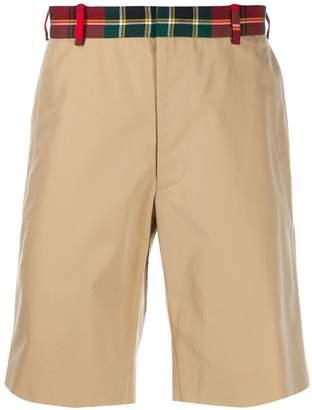 Alexander McQueen tartan waistband bermuda shorts