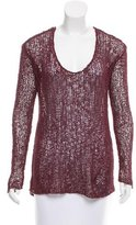 Helmut Lang Knit Scoop Neck Sweater
