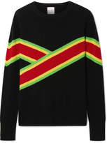 Madeleine Thompson Anastacia Striped Cashmere Sweater - Black