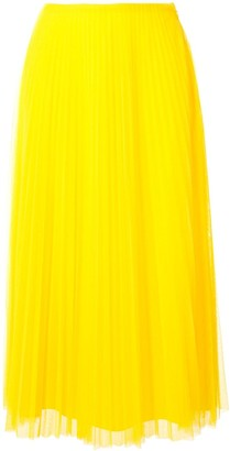 Ralph Lauren Collection Pleated Midi Skirt