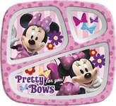 Zak Designs Zak! Designs Minnie Mouse 3 Section Tray (Pack of 6)
