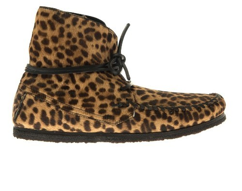 Isabel Marant Flavie calf-hair moccasin ankle boots