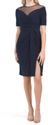 Jersey Draped Cocktail Dress