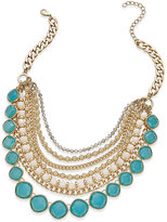 ABS by Allen Schwartz Gold-Tone Beaded Multi-Layer Necklace