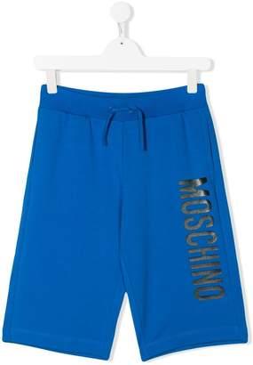 Moschino Kids logo jersey shorts