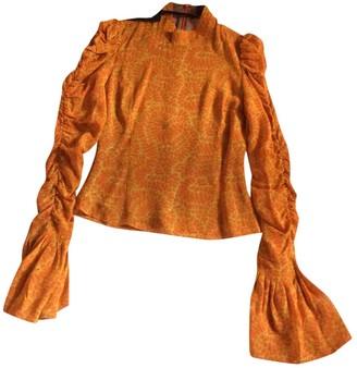 De La Vali Orange Top for Women