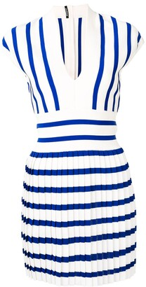 Balmain Pleated Knit Dress