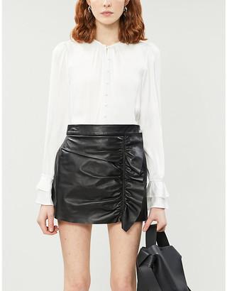 Paige Vienne satin-crepe blouse