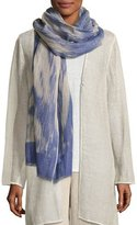 Eileen Fisher Woodgrain Linen/Cotton Scarf