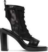 Ann Demeulemeester Black Leather Boot Sandals