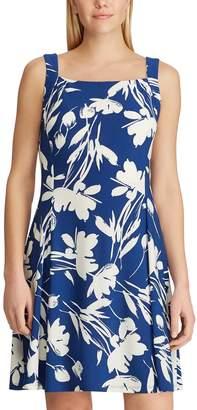 Chaps Women's Floral Fit & Flare Tank Dress