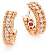 Roberto Coin Symphony Diamond & Ruby Hoops