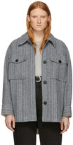 Etoile Isabel Marant Grey Wool Garvey Coat
