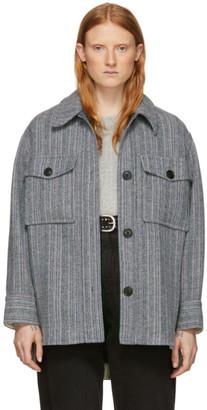 Etoile Isabel Marant Grey Wool Garvey Coat