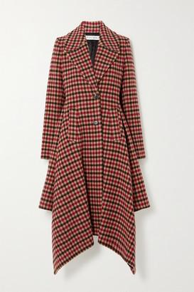 J.W.Anderson Asymmetric Checked Wool-blend Coat