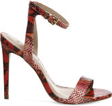 Office Alana snake-embossed leather sandals