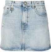 R 13 denim mini skirt - women - Cotton - 24