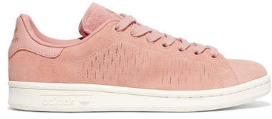 adidas Stan Smith Cutout Suede Sneakers - Blush