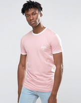 Hype Ringer T-Shirt In Pink