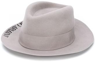 Emporio Armani Embroidered Logo Panama Hat