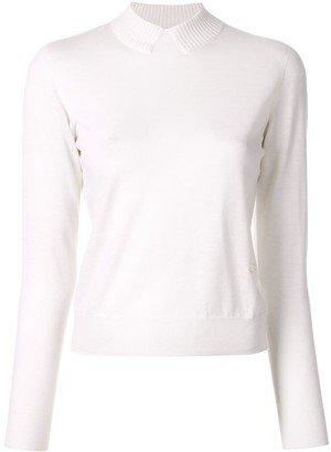 Coperni ribbed collar effect jumper