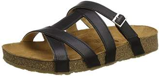 Haflinger Women's Sarah T-Bar Sandals, Black (Schwarz 781)
