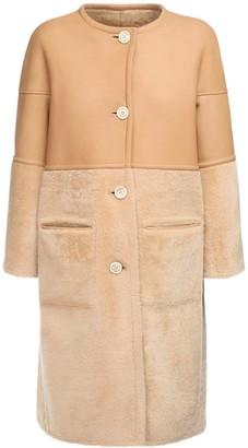 Marni Reversible Shearling & Leather Coat