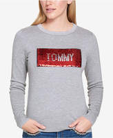 Tommy Hilfiger Sequined Logo Sweater, Created for Macy's