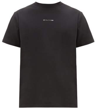 Alyx Logo-print Cotton-blend T-shirt - Mens - Black