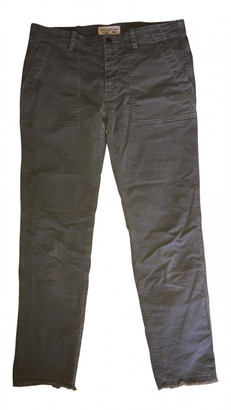 Nili Lotan Green Cotton Trousers