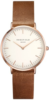 ROSEFIELD Women's Watch The Tribeca White Brown Rose Gold TWBRRC-T55