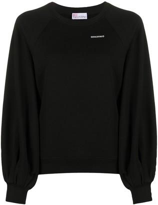 RED Valentino Raglan-Sleeves Logo Sweatshirt