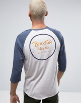 Brixton Wheeler 3/4 Sleeve T-Shirt With Back Print