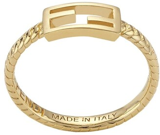 Fendi thin Baguette ring