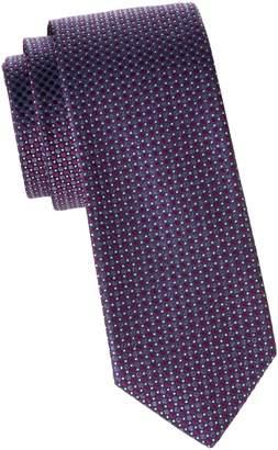 Saks Fifth Avenue Made In Italy Geometric Silk Tie