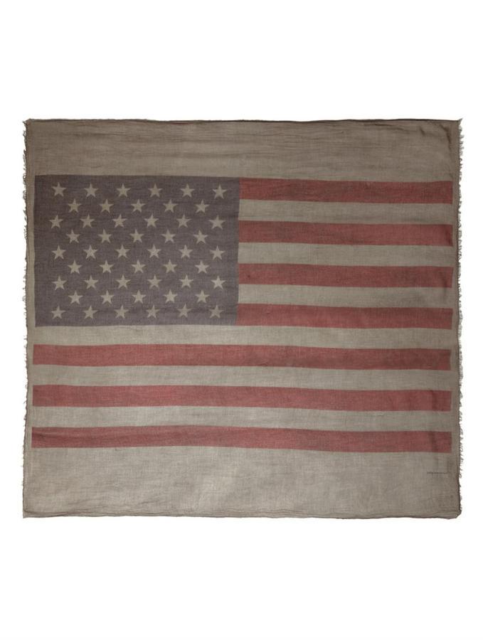 John Varvatos Antique printed flag scarf