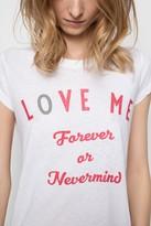 Zadig & Voltaire Skinny Slub Bis Wedding T-Shirt