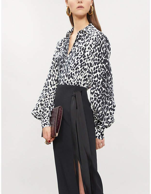 Givenchy Leopard-print silk shirt