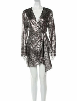 Ronny Kobo Jerry Mini Dress Silver