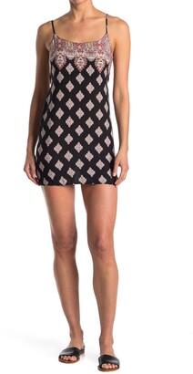 Luna Chix Geo Print Spaghetti Strap Mini Dress