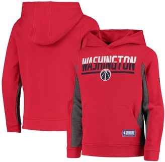 Under Armour Youth Red Washington Wizards Authentic City Split Performance Pullover Hoodie
