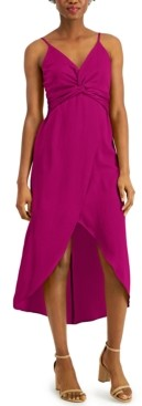 Bar III Twist-Front High-Low Dress, Created for Macy's