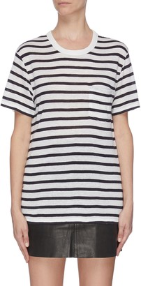 Alexander Wang Striped chest pocket T-shirt