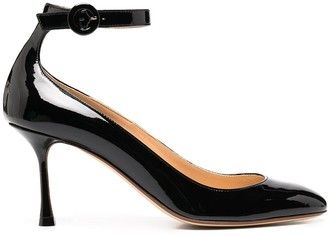 Francesco Russo Ankle Strap Pumps